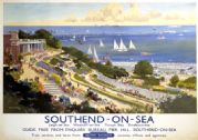 Southend-on-Sea, British Railways travel poster print, 1948-1965. Vintage English art